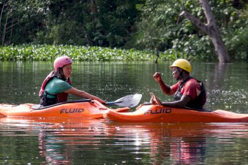 Kayaking experience on the Nile